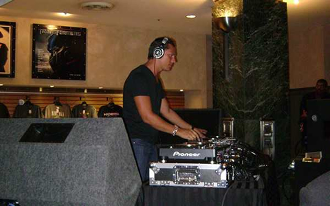 DJ Tiesto at the Virgin Store in Hollywood Using Our Sound and Staging Rental Services