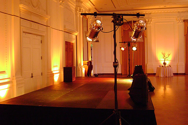 Steeldeck Stage (24 x 12 x 2) & Lighting at The Nixon Library